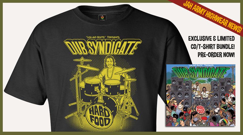 "Jah Army Dub Syndicate CD/T-Shirt bundle ""Hard Food"""