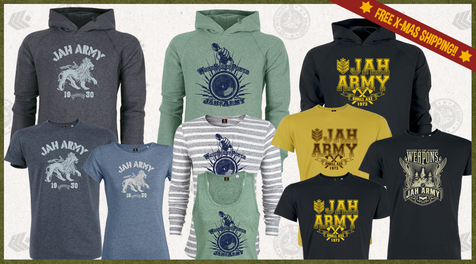 Free Jah Army X-Mas shipping!
